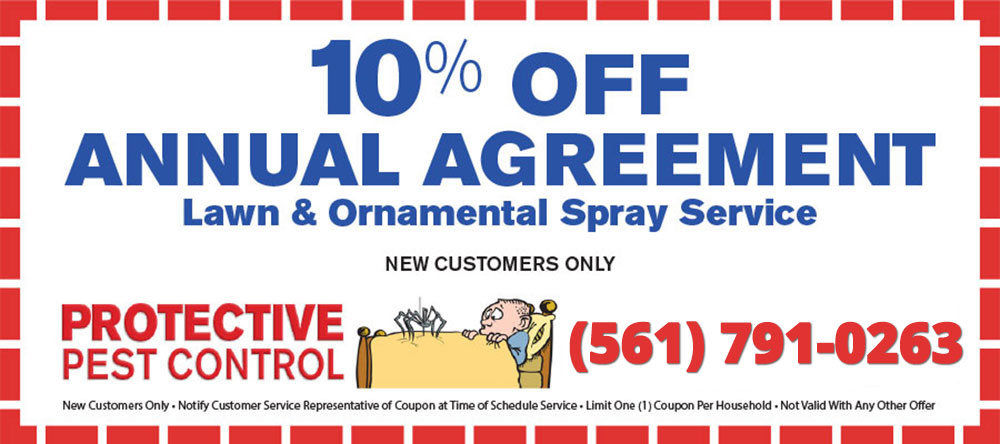 Twenty Dollars Off Annual Pest Control Agreement